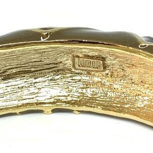 Nat Landau Hyman Jewelry - Nat Landau Hyman Green Enamel Cuff Bangle Bracelet